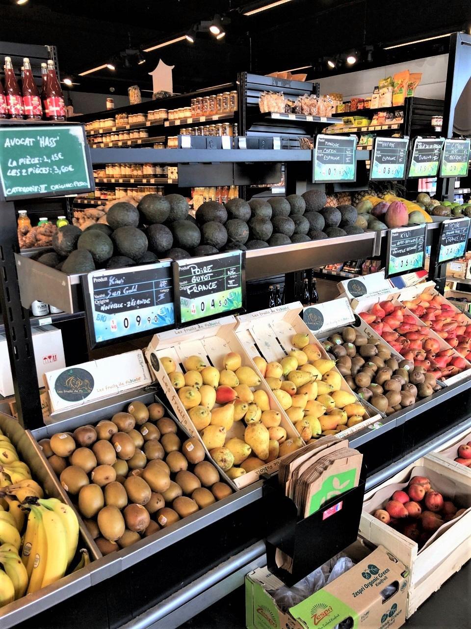 Le rayon fruits et légumes à -50% !